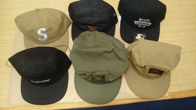 SUPREME S LOGO CAP CAMP CAP WTAPS CAP 網帽 軍帽 STARTER 多款帽子