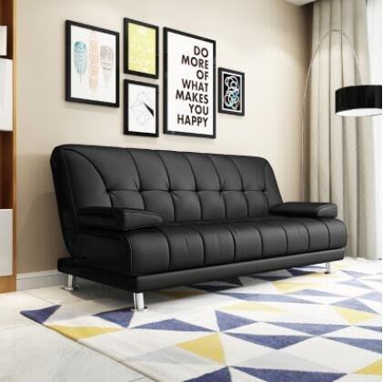 懶人沙發沙發床簡約現代雙人客廳可折疊沙發床 簡易辦公小戶型實木皮藝沙發床1.8WY