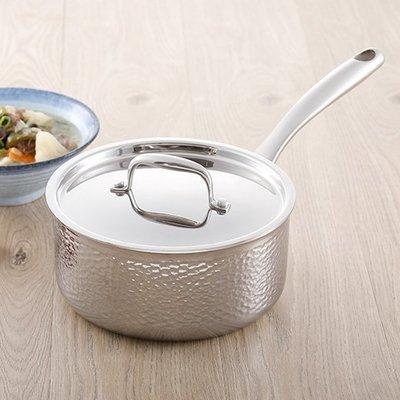 膳魔師 THERMOS 精匠搥印系列 MAX-S20 單柄附蓋湯鍋 20cm 匠心獨具 極致工藝