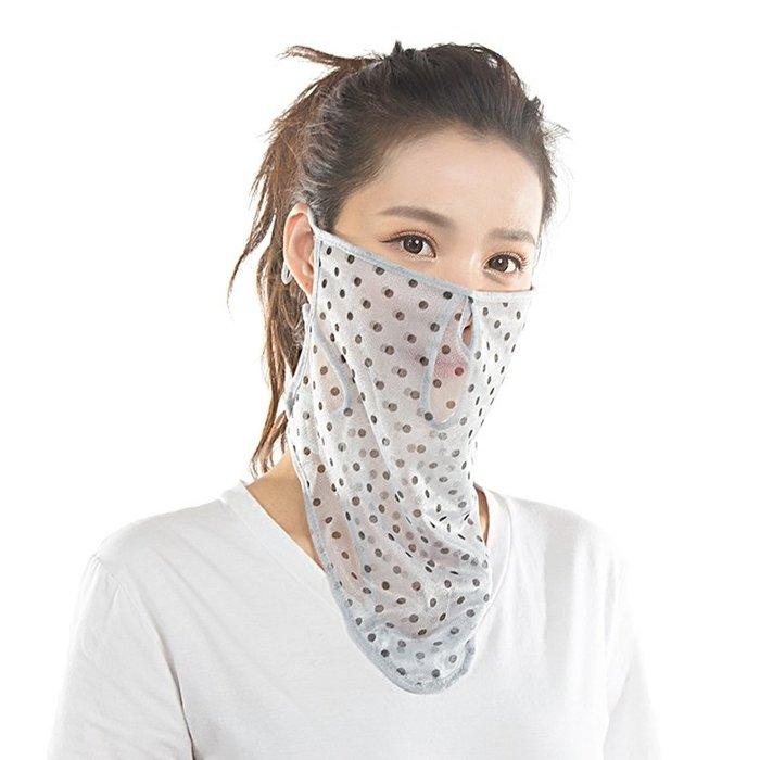 【免運費】防曬口罩女神夏護頸披肩遮陽薄款透氣防塵開車面紗騎行個性面罩QD3C-Y452