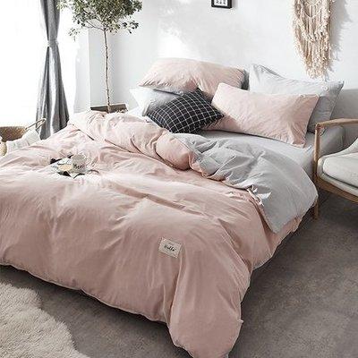南極人ins水洗棉四件套女公主風網紅床單被套簡約床上用品1.5