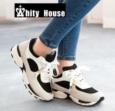 =WHITY=韓國GRAMMI品牌 韓國製  真皮百搭拼色高質感舒適運動鞋  S4IDD36
