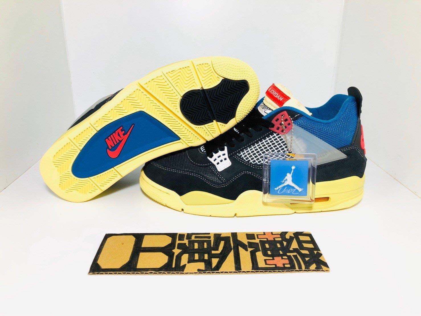 【OB海外代購】 Air Jordan 4 x UNION LA Off Noir AJ4 黑藍紅 DC9533-001