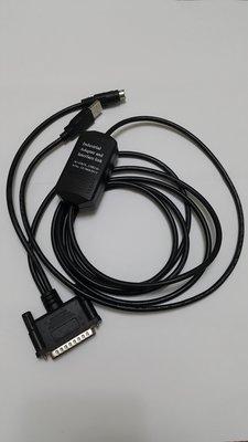 三菱PLC傳輸線:PC側:USB介面/PLC側:D型25Pins及8圓頭介面/FX,A,AnS,QnA系列用  新品