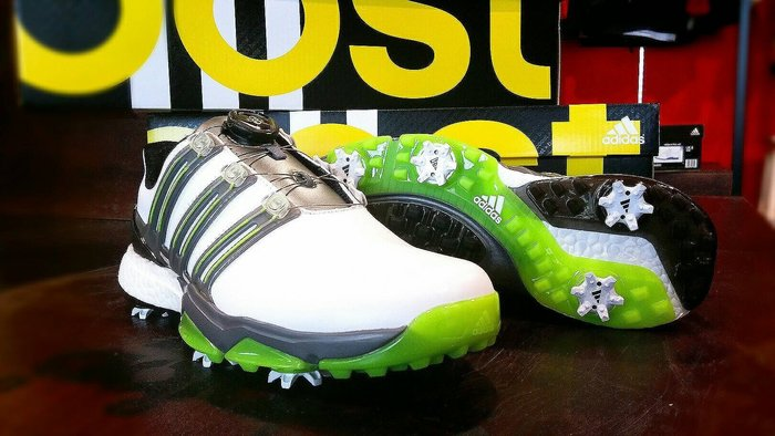 超值6折 全新 adidasGolf powerband Boa boost WD 高爾夫球鞋 寬版設計