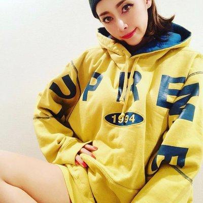 【忘憂百貨】  19FW Spread Logo Hooded Sweatshirt 1994大logo麒麟臂連帽衛衣