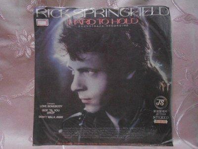 【采葳音樂網】-西洋黑膠–RICK SPRINGFIELD〝HARD TO HOLD〞1254