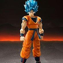 全新 日版 Bandai SHF Dragon Ball Z Super Saiyan God Super Goku 悟空 藍髮