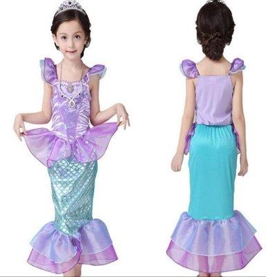 萬聖節 服裝 美人魚服裝六一兒童節表演出服 萬聖節服裝 女童公主裙寶寶攝影cosplay服裝—莎芭
