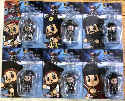 HOT TOYS COSBABY DISNEY PIRATES OF THE CARIBBEAN ON STRANGER TIDES 魔盜王 SET OF 6