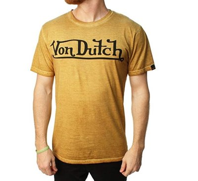 美國潮流品牌 Von Dutch MENS TEE SSK138 - MUSTARD OIL WASH (芥末黃)