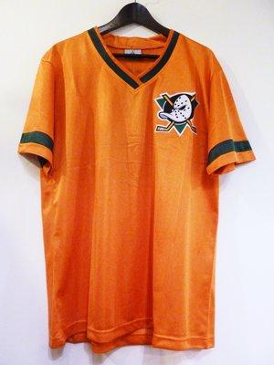 Cover Taiwan 官方直營 嘻哈 NHL 冰球球衣 Anaheim Ducks 安那翰鴨 巨鴨隊 巨鴨奇兵 橘色
