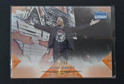2020 Topps WWE Undisputed Sami Zayn 橘版平行卡 限量99張