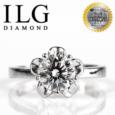 美國ILG鑽石老婆&女朋友最愛 媲美真鑽品牌 頂級八心八箭鑽石鋯石鑽戒指主鑽約1克拉/一克拉莉絲花安朵款 RI046