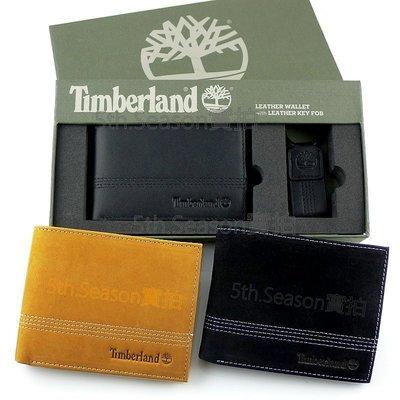 【美國Timberland專櫃正品】天柏嵐2019最新款零錢袋皮夾+鑰匙圈禮盒組◎附新款提袋