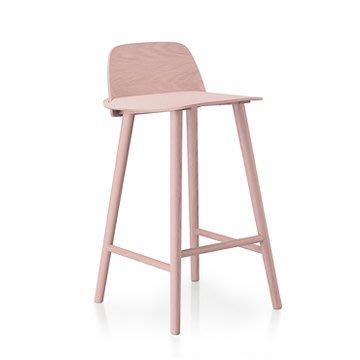 Luxury Life【預購】丹麥 Muuto Nerd Bar Stool in Low 書呆子 木質 高腳椅 低尺寸