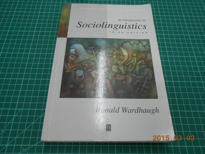 《Sociolinguistics》八成新 Third Edition 有劃記,輕微黃斑,外觀角微損