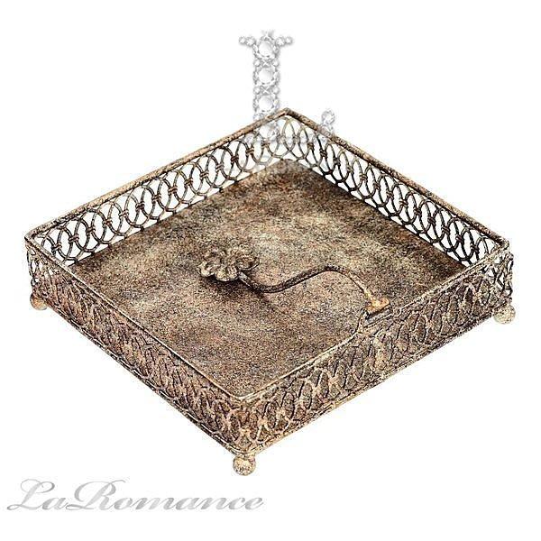 【芮洛蔓 La Romance】 Mindy Brownes - L色系列古典鏤空餐巾盒 / 餐巾架 / 收納盒