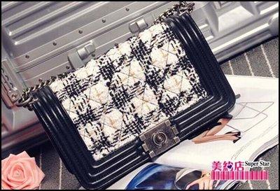 ~美約店~2015新款韓版個性時尚潮特色 女士新款斜挎包秋冬小香風潮菱格鏈條包包