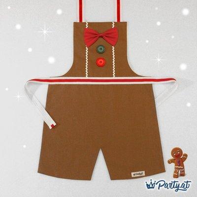 **party.at** 聖誕薑餅人 (男孩款) 兒童圍裙 2-8Y 聖誕節服裝 生日派對 迪士尼 聖誕樹 聖誕老人服裝