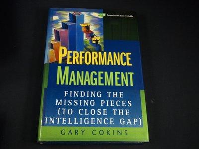 【考試院二手書】《Performance management》ISBN:0471576905│八成新(21B16)