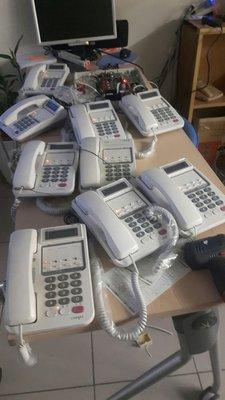 ♥尚揚通信♥二手辦公屏風聯盟416/9成新, 中古電話總機主機10隻分機可增減數量