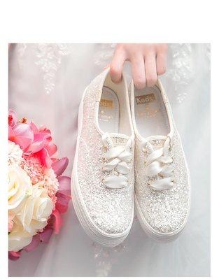 ╭☆包媽子店☆Keds 2018春季新品婚嫁系列Kate spade聯名款新娘鞋((部份現貨))厚底款