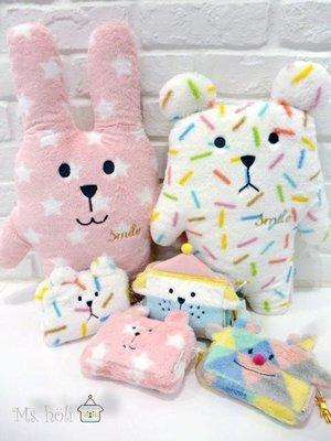 日本限定款☄SMILe Craft☃蠟筆熊寶貝抱枕craftholic粉紅星星兔兔子胖呆版微笑聖誕系列全家宇宙人棉花糖熊