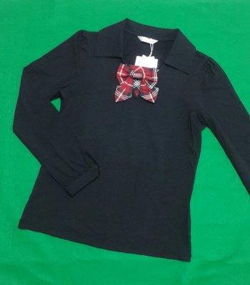 Kinloch Anderson金安德森全新黑色經典紅格v型點綴活動式氣質蝴蝶結別針設計棉衫
