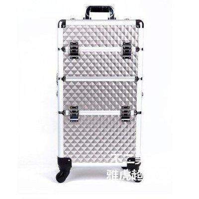 【格倫雅】^美妝工具 大容量復古專業化妝箱拉桿 子母箱30505[g-l-y59
