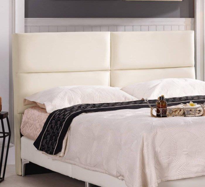 【DH】商品編號G687-10商品名稱蒂安5尺床頭片/白色皮(圖一)不含床底。備有六呎可選。主要地區免運費