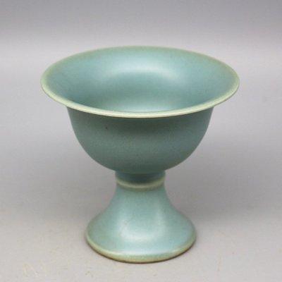 大明萬曆年制 粉青釉 酒杯/酒盅 古董瓷器古玩古瓷器