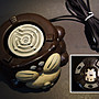 ☆清沁苑☆日本生活道具~陶製 狸型 電氣爐 電熱器210W~d224 -特價品