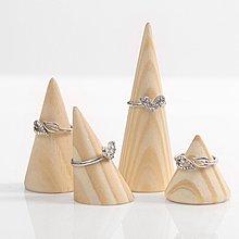 hello小店-實木圓錐尖指戒指座創意戒指托首飾飾品收納架戒指架子#飾品架#展示道具#