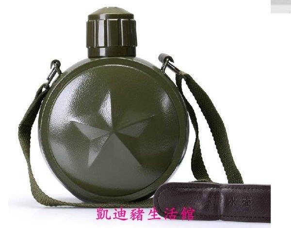 【凱迪豬生活館】-超長保溫  運動 軍綠色保溫水壺 帶壺包 戶外旅行熱水壺水袋KTZ-201066