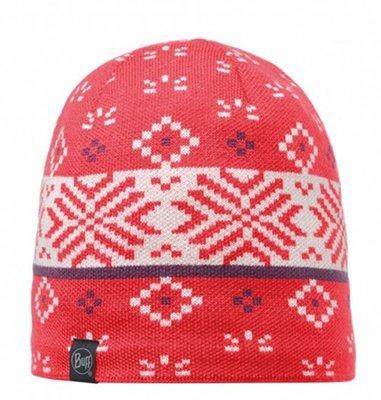【登山屋】【BUFF】BFL111011-423-10 緋紅織紋 POLAR 針織保暖帽