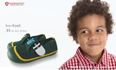 MIT 室內鞋袋組 台灣製 neomnworks 幼兒園室內鞋 koo8398深綠色 手工透氣童鞋+防潑水室內鞋袋