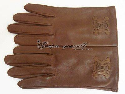 近全新 法國真品 CELINE 小羊皮 羊皮手套 法國製造