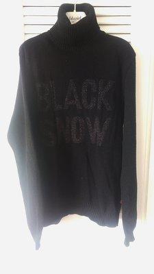 Dolce & Gabbana黑色金蔥字母鬆高領長袖毛衣