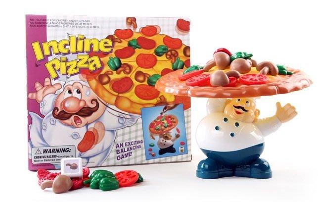親子益智趣味遊戲-Pizza疊疊樂~披薩趣味平衡疊疊樂遊戲~◎童心玩具1館◎