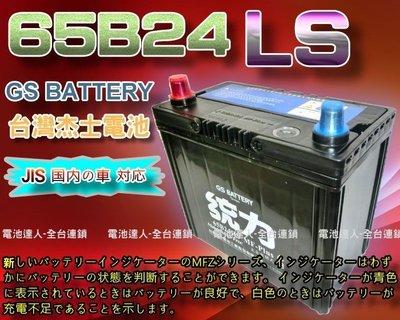☆電霸科技☆65B24LS GS電瓶 杰士 統力 汽車電池 CRV HRV 喜美 雅歌 ALTIS YARIS VIOS