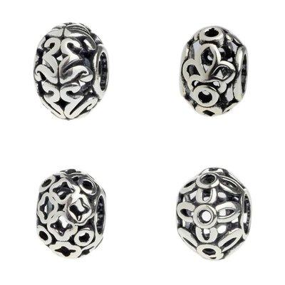 s925純銀 星塵空間珠 me新品tal bead新 金屬珠 基礎手鍊串珠 魅力飾品KL29