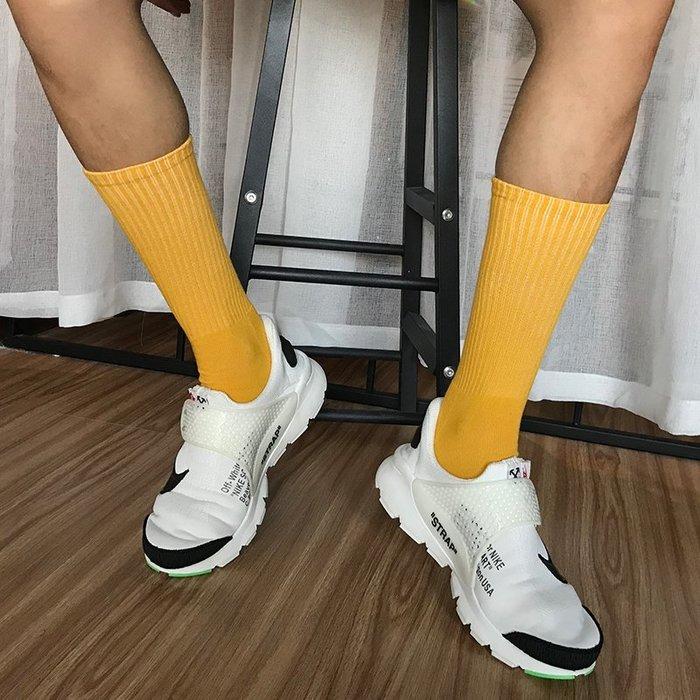 男士絲襪船型襪中筒襪紳士襪西裝襪 亮黃色男士加厚毛巾高腰高筒潮襪男式襪子吸汗透氣耐臭腳韓系襪子電子批發五金