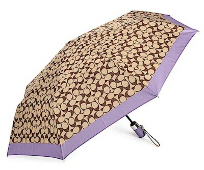天使熊雜貨小舖~美國COACH經典滿版C LOGO圖案 自動晴雨傘  全新現貨
