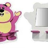 GIFT41 4165本通 三重店 迪士尼 玩具總動員 熊抱哥 造型小化妝鏡/手機座 LO-0004