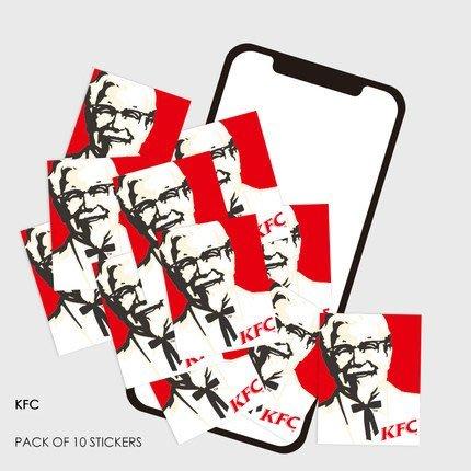 KFC 肯德基 個性潮牌 行李箱 旅行箱 小貼紙 電腦 手機 【10枚入】