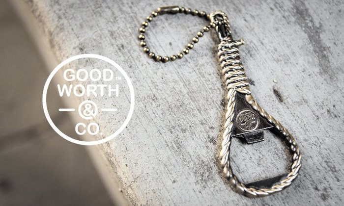 GOODFORIT / 美國飾品專門品牌Good Worth Noose黃銅絞繩開瓶器(3″ x 1″)