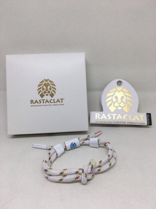 正品 RASTACLAT 美國加州品牌 鞋帶手環 白色雙繩單節