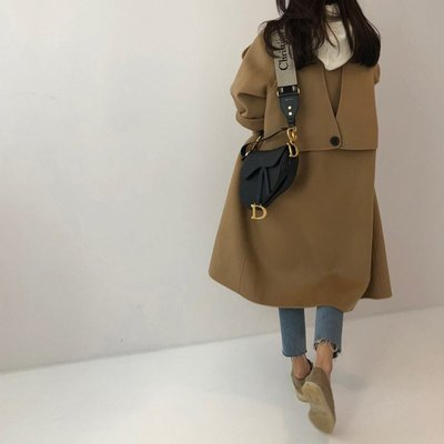 C Select Shop ♥ 韓國東大門 超有設計感後背亮點 手工款雙面羊毛大衣 秋冬羊毛外套 正韓連線