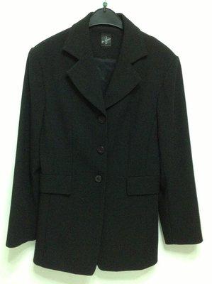 全新百貨專櫃ben ma shien 斑馬線黑色長袖及膝裙套裝